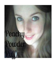 blogbuton peachy powder puff