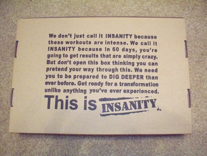 Day One of Insanity–60 Day Workout Challenge – Cat Storey