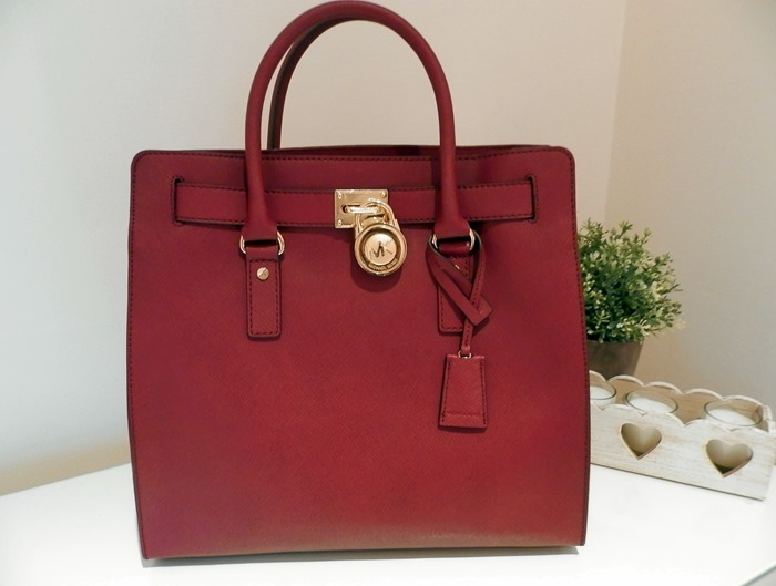 michael kors hamilton large red bag review