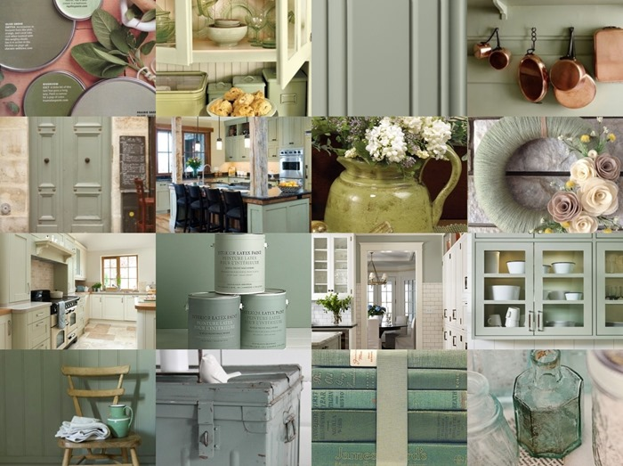 sage green kitchen 1-tile