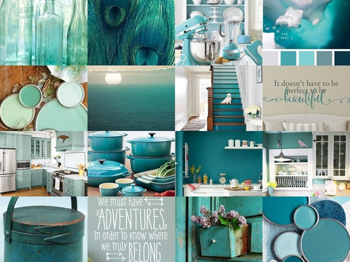 teal kitchen inspiration