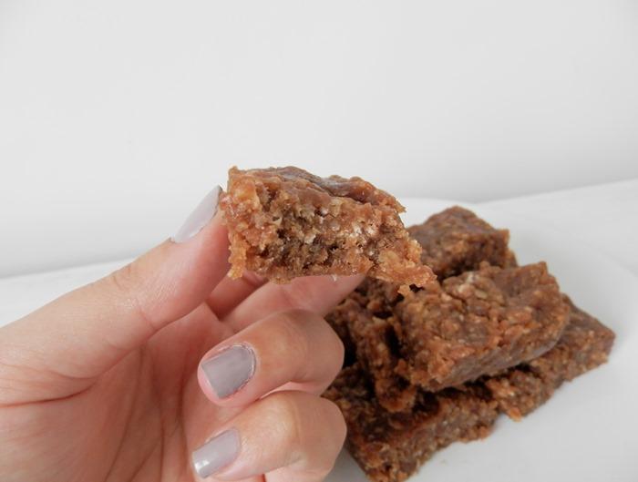 Healthy Chocolate and Peanut Protein Flapjack 1