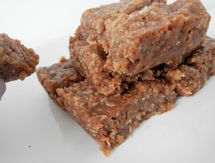 Healthy Chocolate and Peanut Protein Flapjack 4
