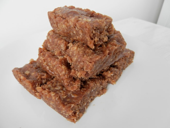 Healthy Chocolate and Peanut Protein Flapjack