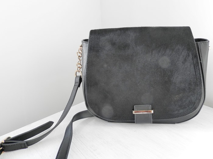 New Look Black Saddle Bag