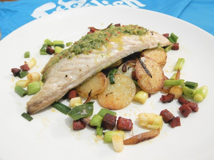 fish is the dish chimichurri mackerel with potato hash (6)