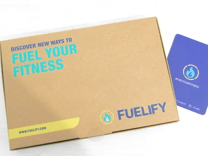 Fuelify health and fitness products deilvery box