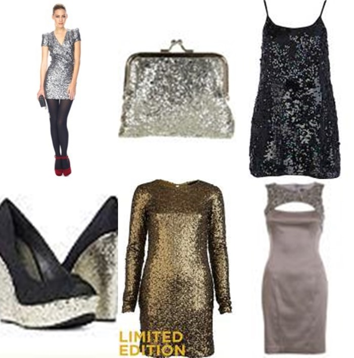 glitter christmas party dresses